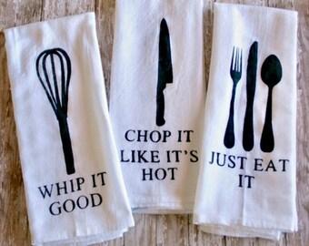 Kitchen utensil hand towels