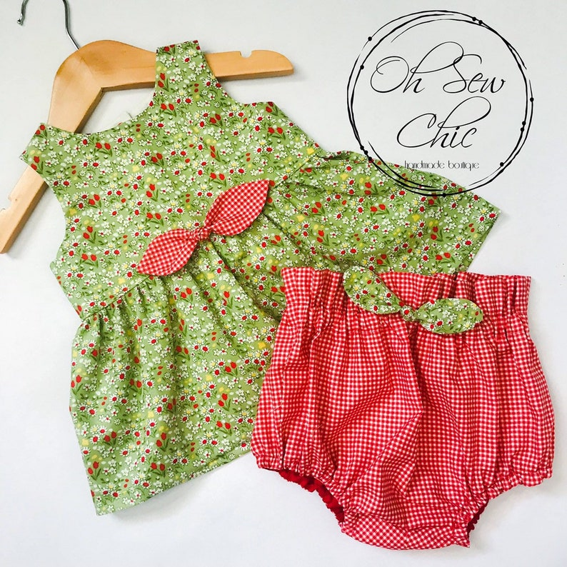 READY TO SHIP Bubble Bloomer and Peplum Set image 0