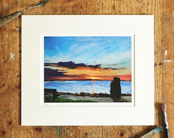 A Year on the Prom Limited Edition Print - '15 January, 2016' - Fine Art Giclée Print - Galway Artist - A Clear Sunrise