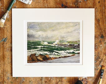 A Year on the Prom Limited Edition Print - '3 August, 2015' - Fine Art Giclée Print - Galway Artist - Storm Over Blackrock