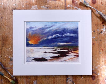 A Year on the Prom Limited Edition Print - 'December 30, 2015' - Fine Art Giclée Print - Galway Artist - Storm Eva
