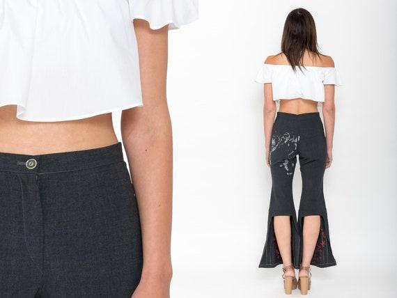 1990s Bell Bottom Pants – Vintage 90s Abstract Pri