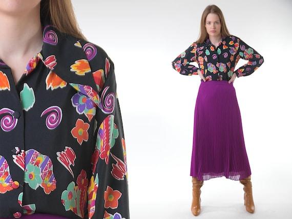 Vintage Y2K 90s Rainbow Boho tunic blouse top overswim
