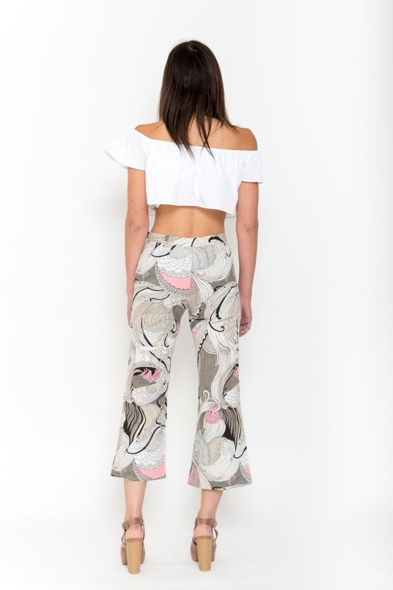 1970s Paisley Print Bell Bottoms – Vintage 70s Pi… - image 5