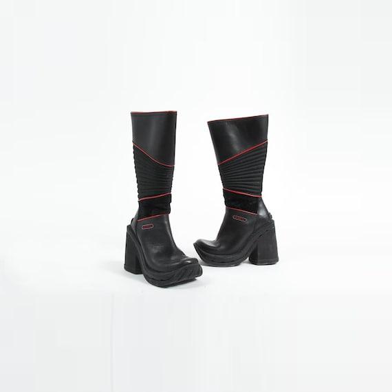 1990s Platform Boots Vintage 90s HEX