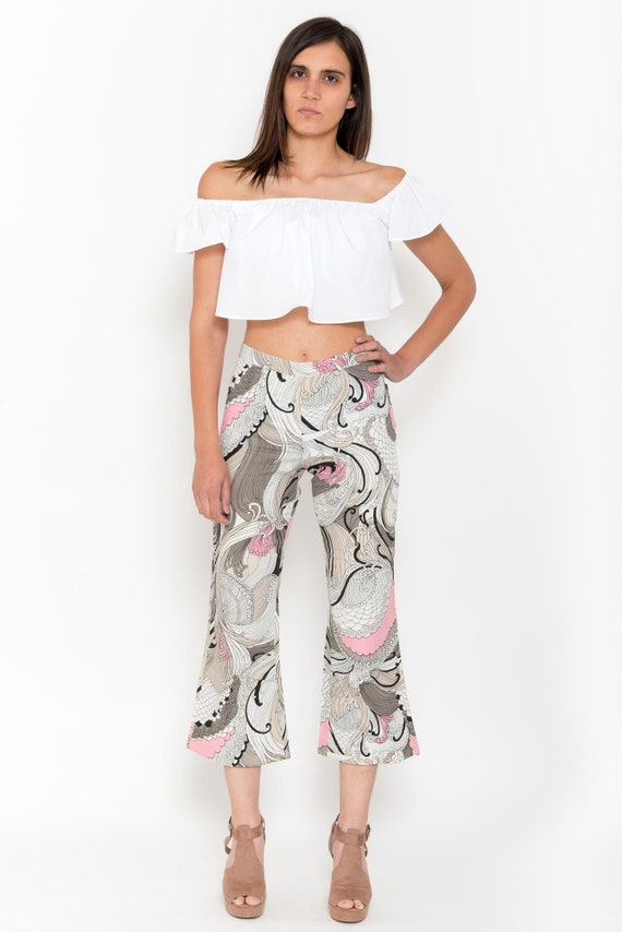 1970s Paisley Print Bell Bottoms – Vintage 70s Pi… - image 6