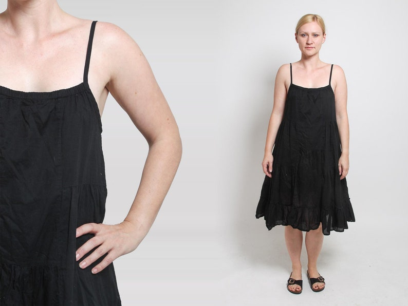 de1f3176873 1990s Tent Dress Vintage 90s Brown A Lined Lolita Sundress