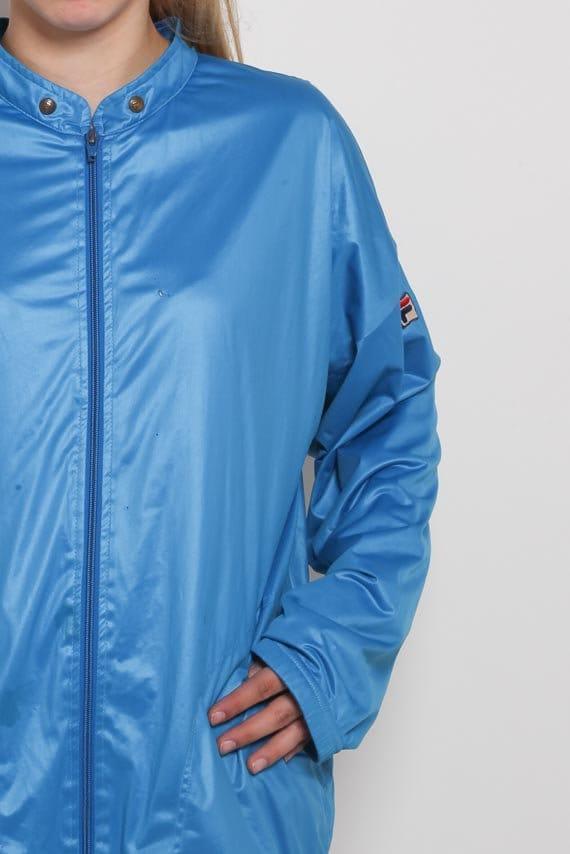 f2f5f97802e7 1980s FILA Jacket Vintage 80s Blue Track Jacket Zip Up Retro