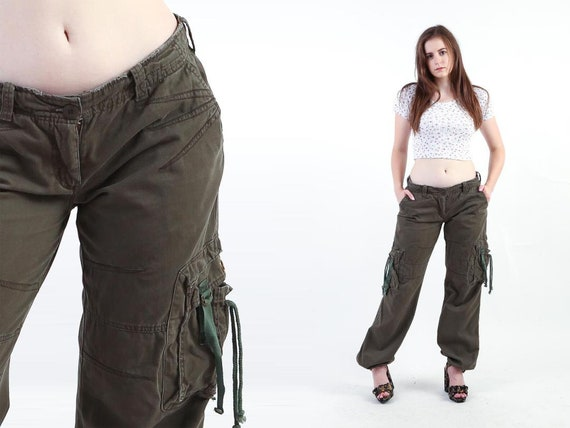 2000s Brown Cargo Pants Vintage 00s Military Y2K G