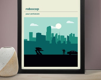 ROBOCOP Inspired Movie Poster - Movie Poster, Movie Print, Film Poster, Film Print
