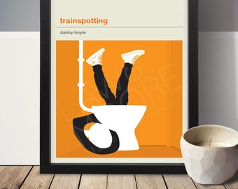 TRAINSPOTTING Inspired Movie Poster - Movie Poster, Movie Print, Film Poster, Film Poster