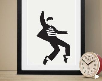 Elvis Poster Music Poster Art Print