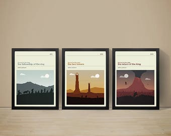 The Lord of the Rings Movie Posters - Set of Prints, Movie Poster, Movie Print, Film Poster, Film Print, Lord of the Rings Poster