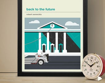 Back To The Future Movie Poster Film Print
