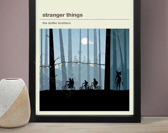 STRANGER THINGS Inspired Poster, TV Print, Print, Poster