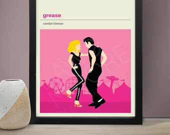 Grease Movie Poster - Movie Poster, Movie Print, Film Poster, Film Poster