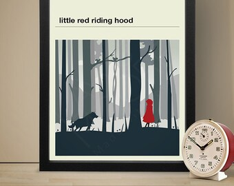 Little Red Riding Hood Poster - Fairy Tale Poster, Fairy Tale Print
