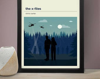 THE X-FILES Inspired Poster, TV Print, Print, Poster