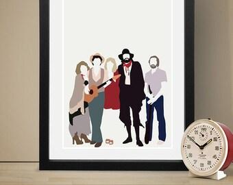 FLEETWOOD MAC Inspired Poster, Music Poster, People, Art Print