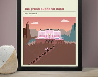 THE GRAND BUDAPEST Inspired Hotel Movie Poster - Movie Poster, Movie Print, Film Poster, Film Poster