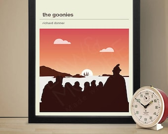 THE GOONIES Inspired Movie Poster, Movie Print, Film Poster