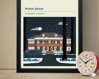 HOME ALONE Inspired Movie Poster - Movie Poster, Movie Print, Film Poster, Film Poster