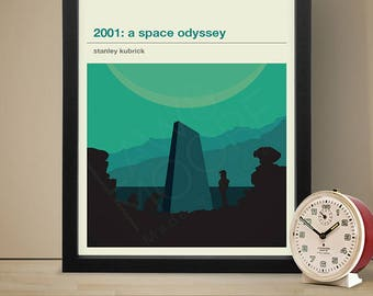 2001: A Space Odyssey Poster - Movie Poster, Movie Print, Film Poster, Film Poster