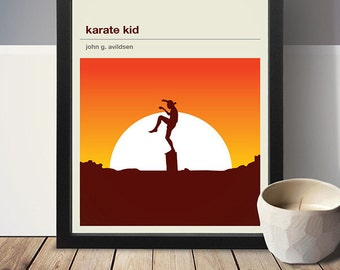 KARATE KID Inspired Movie Poster, Movie Print, Film Poster