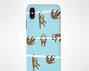 Sloth Animal Phone Case for iPhone and Samsung, iPhone X, 8, 7, 6, 6s, Plus, 5s, 5c, Samsung, S8