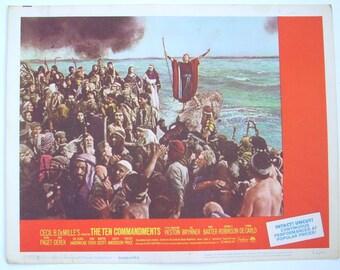 Lobby Card, Ten Commandments, Charlton Heston, Cecil B. DeMille, Yul Brynner, Edward G Robinson, Anne Baxter,  Yvonne DeCarlo, 1966