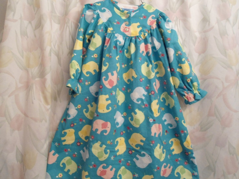 Size 4 Girls Elephant Gown on green