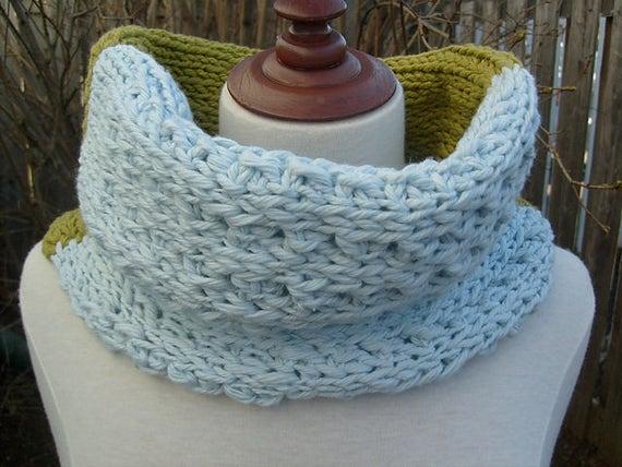 Summer Tunisian Crochet Cowl Pattern Snood Crochet Pattern Etsy