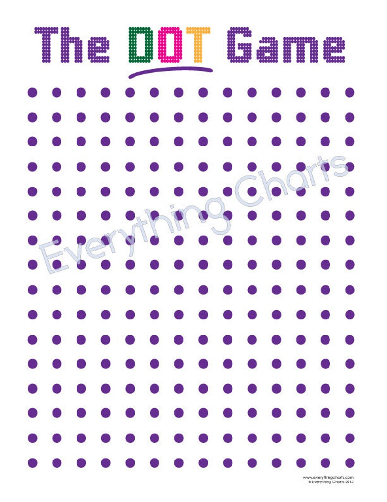image about Printable Dot Game called The Dot Video game - PDF Data files/Printables