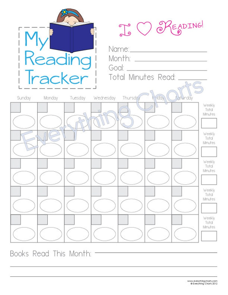picture relating to Printable Reading Chart identified as Looking at Chart for Ladies - PDF History/Printable