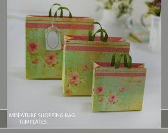 Dollhouse miniature shopping bag templates DIY project