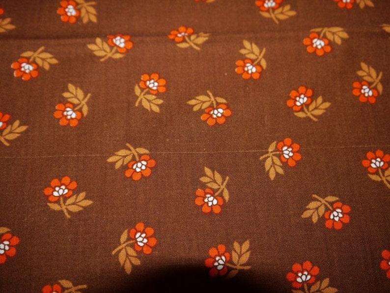 70s Finland Table Cloth Tampella Brown  Orange Fabric COOK Collection RETRO