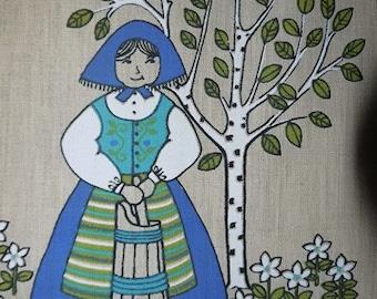 Wall Hanging - Tapestry - Sweden - ULLAs - Folk motif - Ulla Scheuer - RETRO