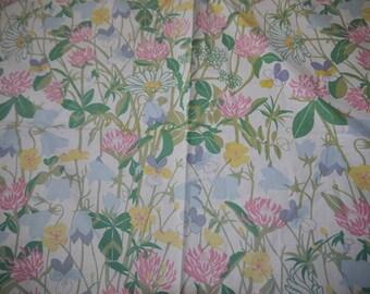 Fabric - Borås Textile - Swedish Design - 90s - Lena Boije - Meadow Flowers - Vintage