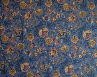 Floral fabric / Scandinavian fabric / Swedish fabric / Cotton fabric / Home decor fabric