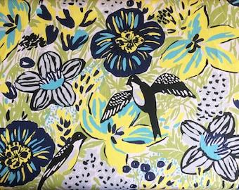 Floral print fabric / Scandinavian fabric / Upholstery fabric / Finnish fabric / Curtain fabric / Canvas fabric / Home decor fabric