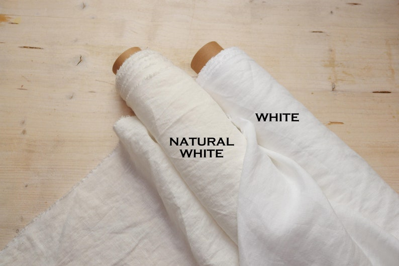 Natural white linen fabric Linen fabric by the yard Lightweight linen  fabric Stone washed linen fabric Soft linen fabric Scandinavian Fabric