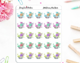 Dishes Planner Stickers, Cleaning Planner Stickers, Chore Stickers, Used with Erin Condren, Happy Planner, Mini Planner Stickers