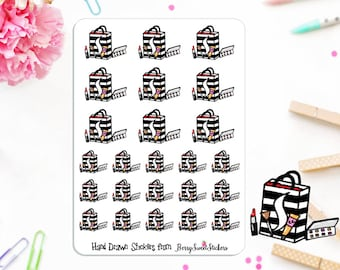 Makeup Planner Stickers, Shopping Stickers, Hand Drawn Stickers, Used with Erin Condren, Happy Planner, Sephora Planner Stickers