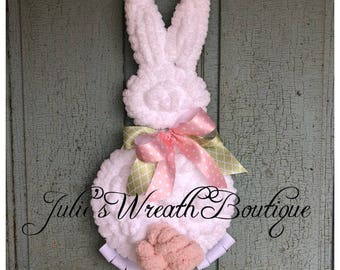 Bunny Wreath, Easter Wreath, Easter Decor, Front Door Decor, Handmade Wreath, Peter Cottontail, Easter Decoration, Bunny Rabbit