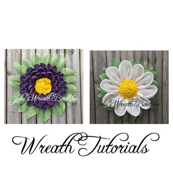 Gerber Daisy Tutorial, Dahlia Tutorial, Diy Wreath, Video Tutorial, Gerber Daisy Wreath, Dahlia Wreath, Petal Wreath Tutorial, Front Door by Etsy