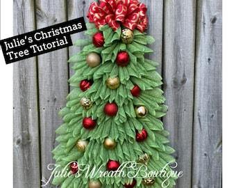 Christmas Tree Tutorial,  Angel Wreath Tutorial, DIY, Christmas Wreath Tutorial, Video Tutorial, Make Your Own Wreath, Video Tutorial