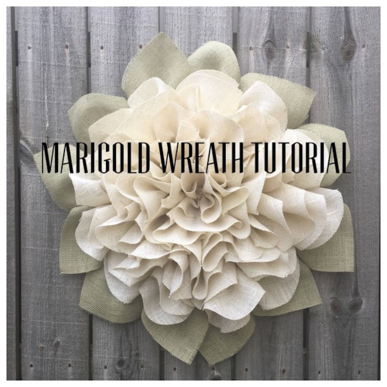 Marigold Wreath Tutorial Marigold Wreath Video Tutorial DIY image 0