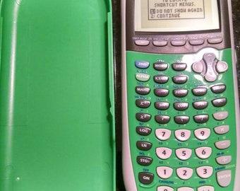 TI84 plus silver edition green scientific calculator new batteries TI 84 plus