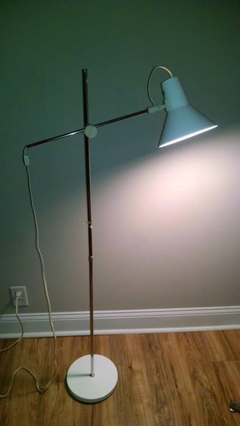 Mid Century Modern Vintage Ikea Cantilever Floor Lamp Rare Original Lamp 1960s