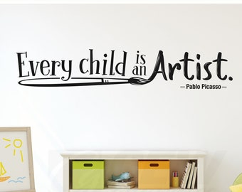 Creativity Wall Decal Inspiring Artistic Quote Art And Craft Etsy